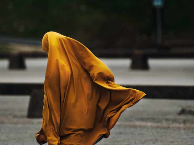 Muslim Woman Walking