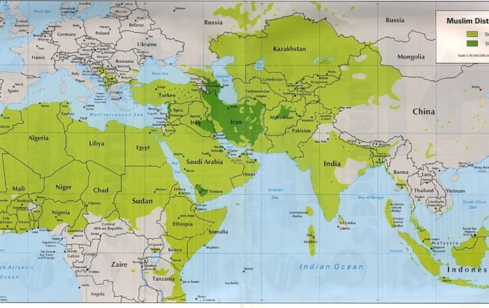 Muslim World Map