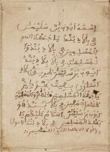 Ayuba Suleiman Diallo's Letter